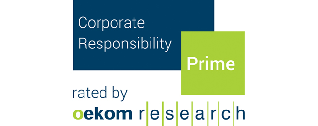 CSR rating of SAGESS by Oekom research